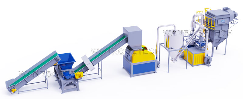 WPC Pulverizer Wood Plastic Composite Plate Recycling Grinder